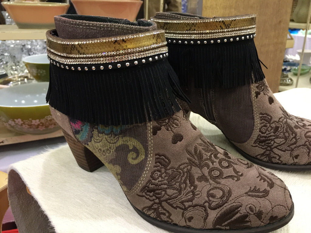 Boot Cuffs Gold&Fringes