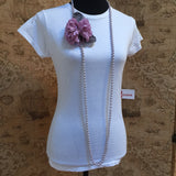 Pearl Pale Pink Carnation Necklace