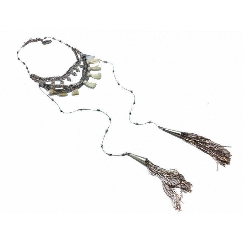 Buganvilla Silver-White Necklace