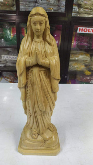 mother mary 17 inch  wooden Statue -Jefgo.in