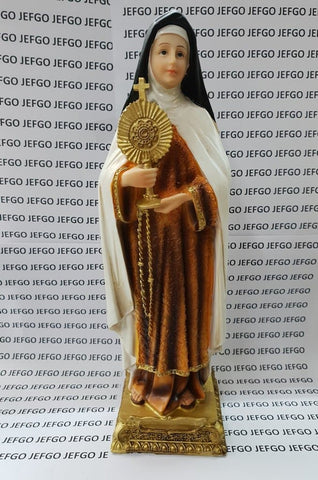 Saint Clare of Assisi Statue 12 inch -Jefgo.in