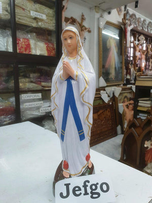 Our lady of Lourde Statue 15 inch Fiber -Jefgo.in