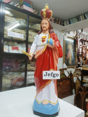 Jesus Christ the King Statue 24 inch Fiber -Jefgo.in