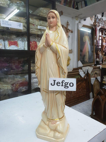Our Lady Of Lourdes Statue 2 feet\24 inch Fiber - JEFGO