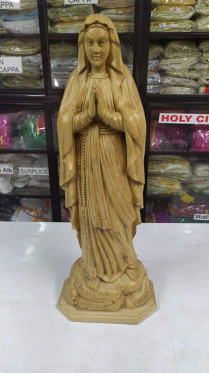 mother mary 25 inch  wooden Statue -Jefgo.in