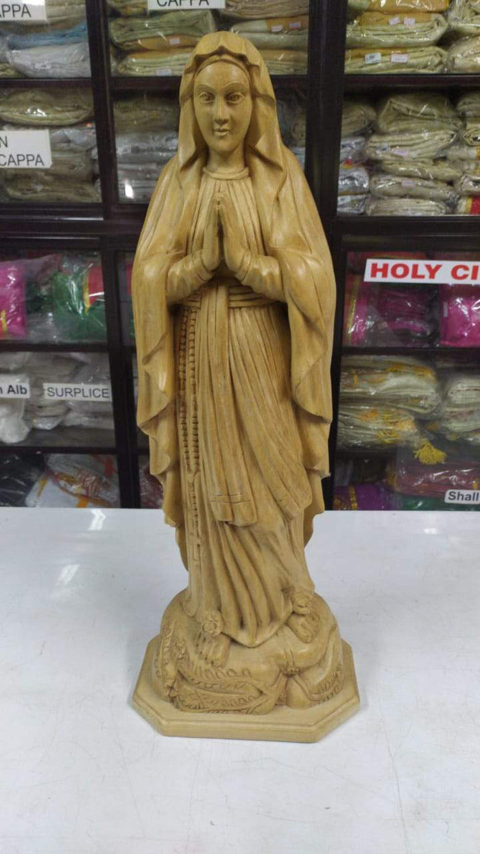 mother mary 25 inch  wooden Statue