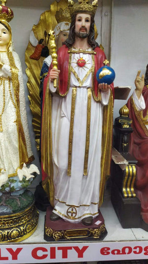 Jesus Christ the King Statue 24 inch -Jefgo.in
