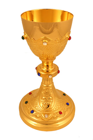 Chalice Brass Gold 101 height 7 inch -Jefgo.in