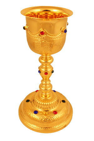 Chalice Brass Gold 104 height 9 inch -Jefgo.in
