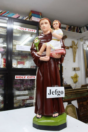 Saint Anthony of Padua Satue 30 inch Fiber -Jefgo.in