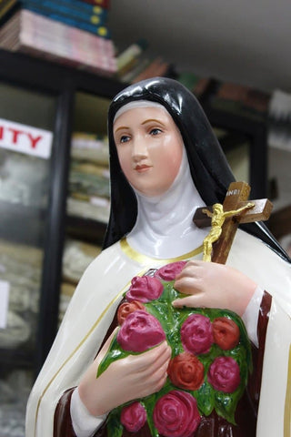 Saint Therese/The Little Flower Statue 30 inch fiber -Jefgo.in