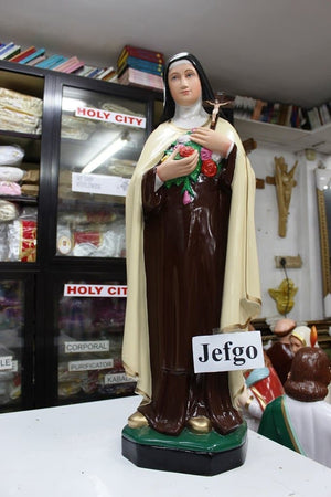 Saint Therese of Lisieux/Little Flower 36 inch fiber Statue -Jefgo.in