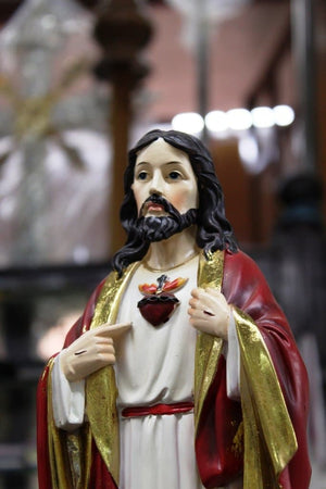 Sacred Heart of Jesus Statue Polymarble -Jefgo.in