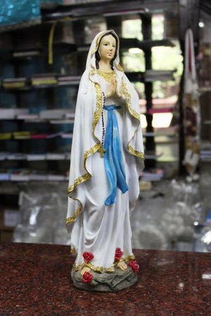Our Lady of Lourdes Statue 16 inch -Jefgo.in