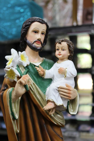 Saint Joseph with Infant Statue Polymarble -Jefgo.in