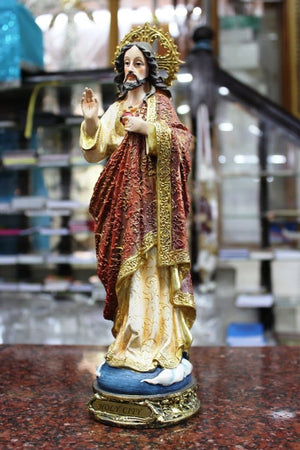Sacred Heart of Jesus Statue 12 inch -Jefgo.in
