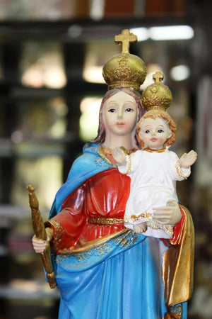 Mother Mary Statue with Infant Jesus 12 inch -Jefgo.in