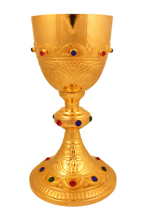 Chalice Brass Gold 106 height 9 inch -Jefgo.in