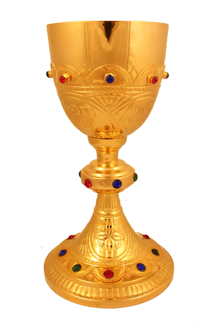 Chalice Brass Gold 106 height 9 inch