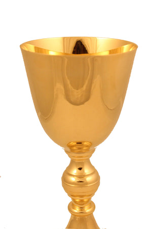 Chalice Brass Gold 124 height 8 inch -Jefgo.in