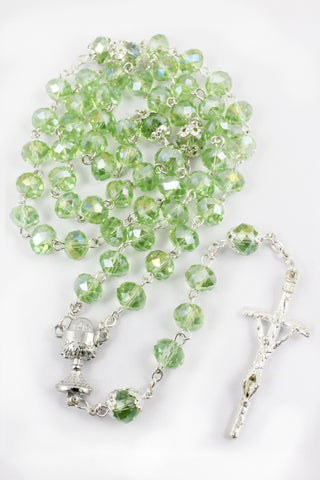 Rosary 106 Plastic Crystal Beads -Jefgo.in