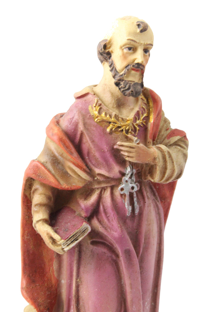 Saint Peter statue 6 inch Polymarble
