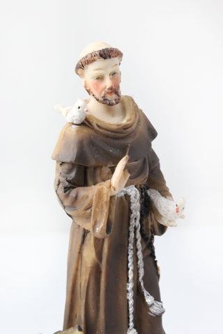 Saint Francis of Assisi statue 6 inch Polymarble -Jefgo.in