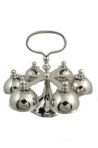 Altar Bells 104 Brass Nickel Plated 6.7 inch -Jefgo.in