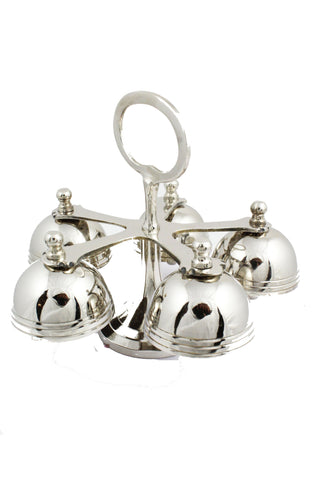 Altar Bells 103 Brass Nickel Plated 5.5 inch -Jefgo.in