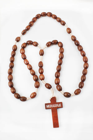 Rosary 114 Wooden Beads -Jefgo.in