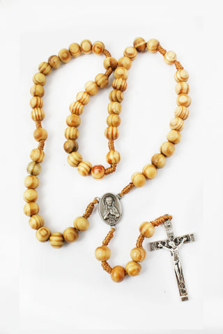 Rosary 110 Wooden Beads -Jefgo.in