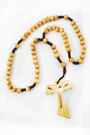 Rosary 112 Wooden Beads -Jefgo.in