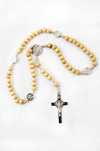Rosary 109 Wooden Beads -Jefgo.in