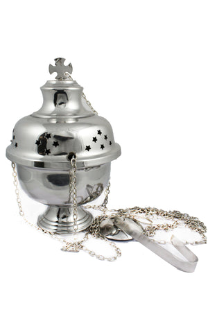 Thurible 103 Steel Censer 9 inch -Jefgo.in