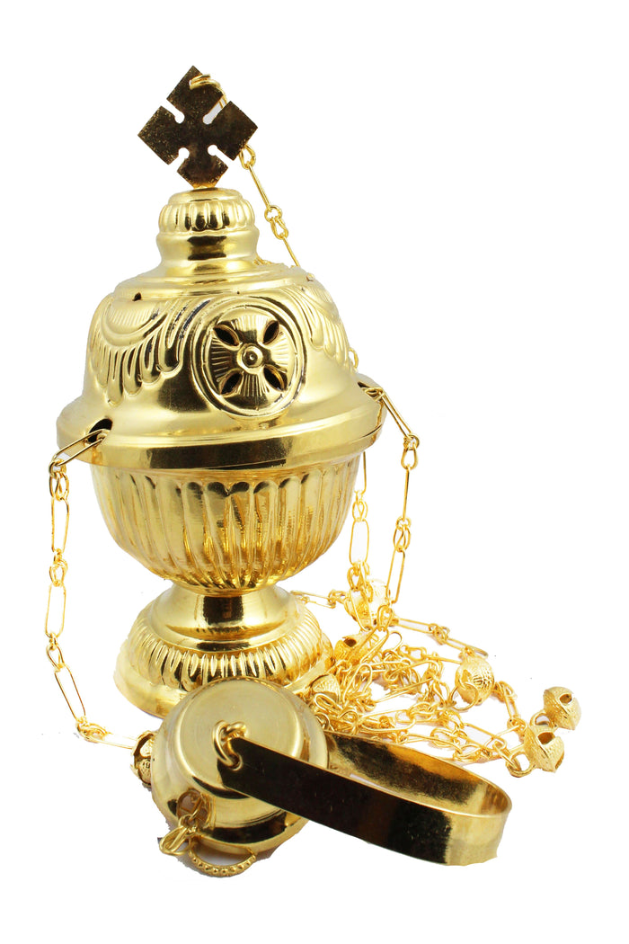 Thurible 109 Brass Sheet made Censer 8.1 inch