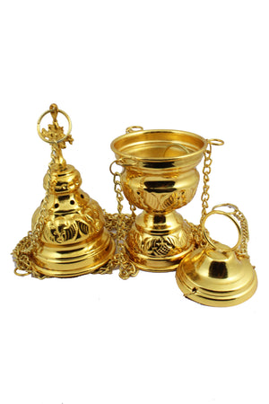 Thurible 108 Brass Sheet made Censer -Jefgo.in