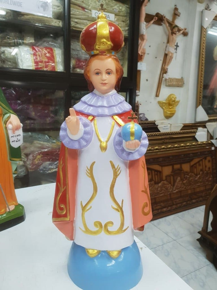 Infant Jesus of Prague Statue 18 inch Fiber