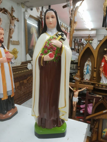 Therese of Lisieux /The Little Flower of Jesus Statue 18 inch fiber -Jefgo.in