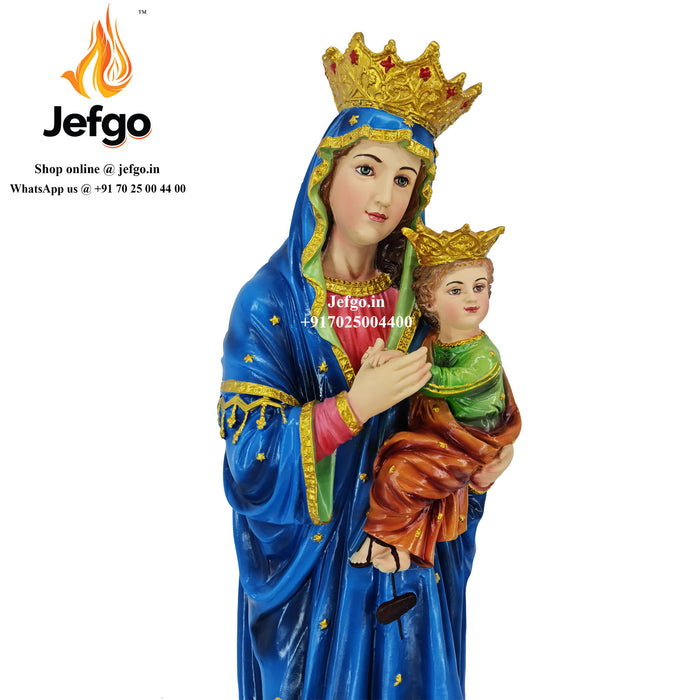 Our Lady of Perpetual Help Statue 32 inch height Fiber