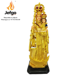 Buy Velakanni Statue Online in India ,Our Lady of God health Statue , Arogya Matha Statue