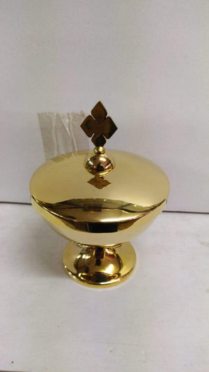 Ciborium Brass Gold 15 Height 6 Inch -Jefgo.in