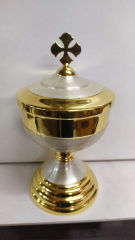 Ciborium Brass Gold 24 Height 9.5 Inch -Jefgo.in