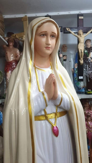Our Lady of Lourdes Statue 4 feet8 inch fiber -Jefgo.in