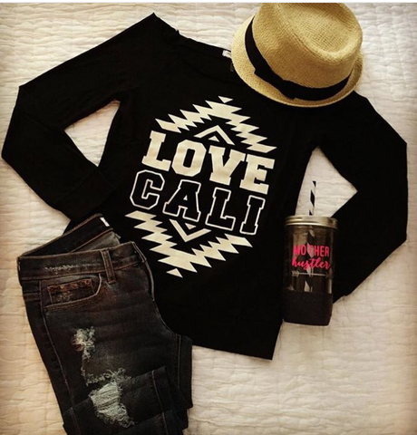California LOVE jersey knit sweatshirt