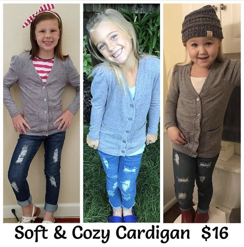 ~ For Keeps Too ~ soft gray cardigan