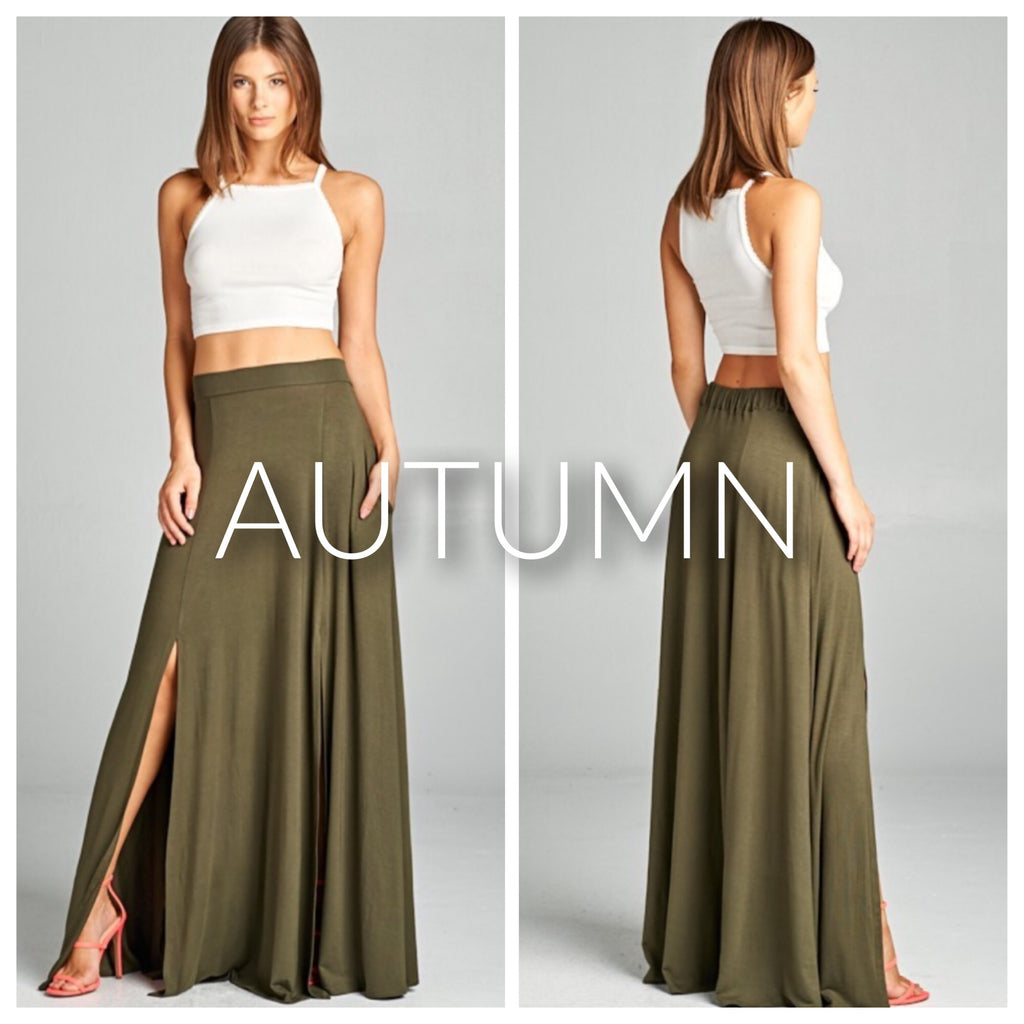 The AUTUMN maxi skirt