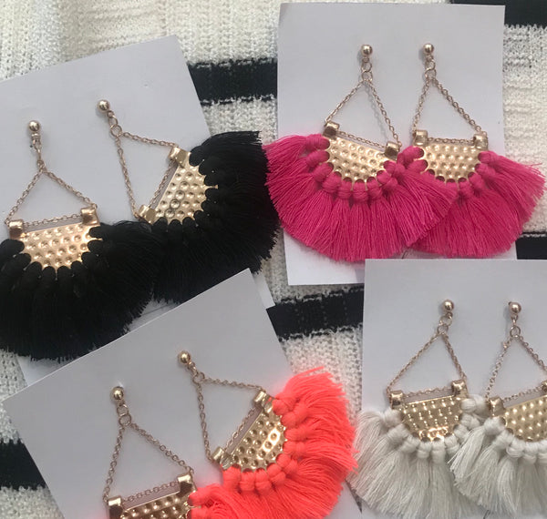 Fanned Out Tassel Earrings