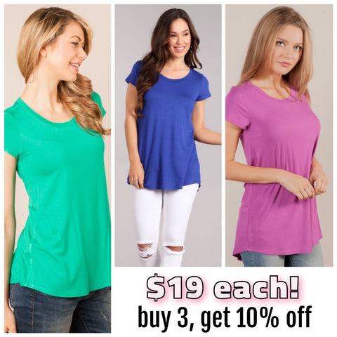 "The Comfy & Flattering ""Capped Sleeve Tee"""