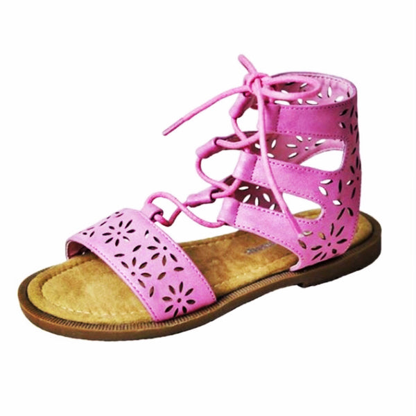 ~ For Keeps Too ~ shimmer pink gladiator sandals