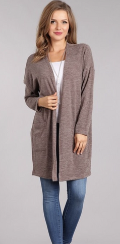 The LISA drop shoulder cardigan